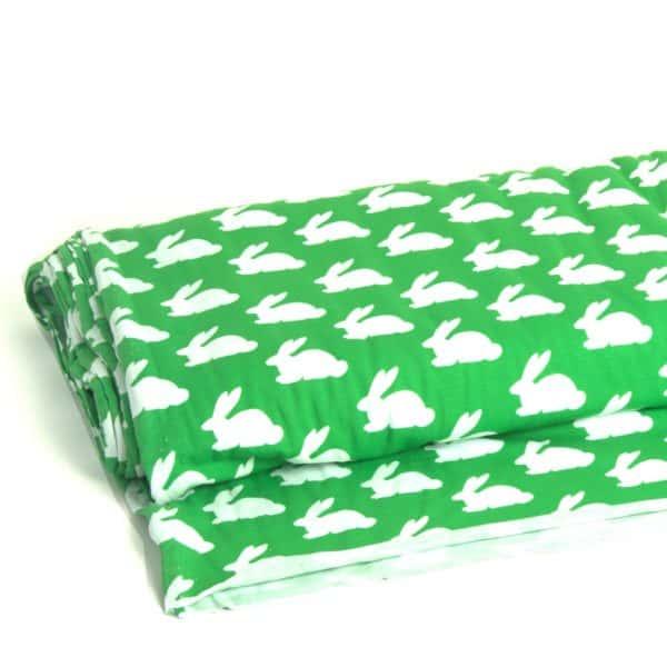 COUPON 75 cm Tradsnella - Konijnen Groen Tradsnella5 konijnen groen Aangepast