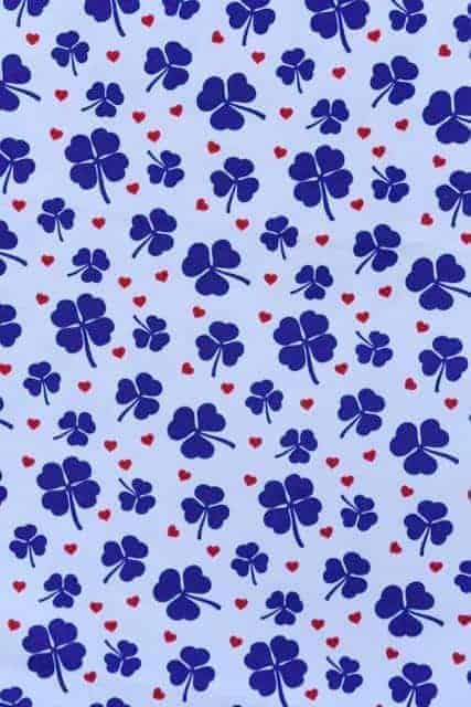 Tradsnella - Blauw klavertje clover blue