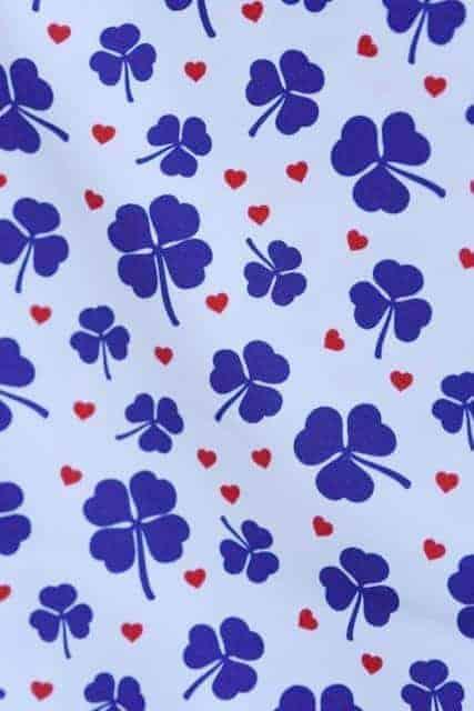 Tradsnella - Blauw klavertje clover blue2