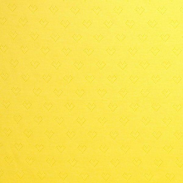 Albstoffe weekender jacquard hartjes geel