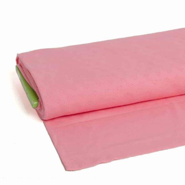 Albstoffe weekender jacquard hartjes roze
