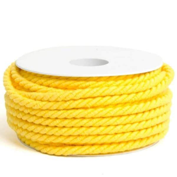 geel rondgedraaid katoendraad 6mm koord geel Aangepast