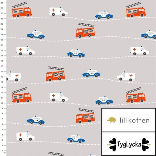 Tyglycka - Emergency (Tricot) emergency verhicles