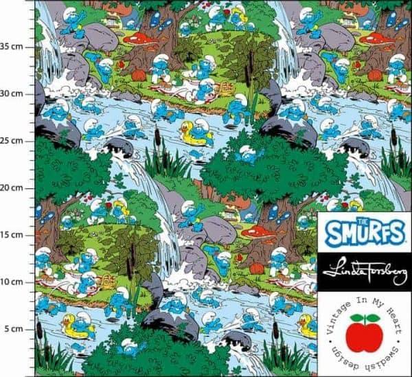 vintage in my heart Smurfs Smurfen bath time