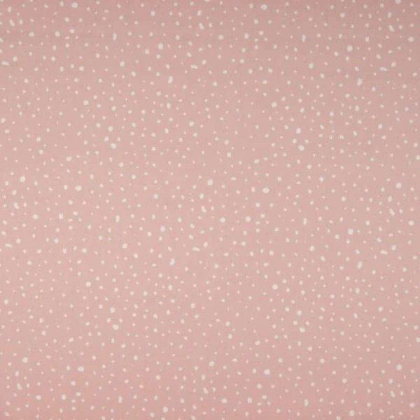 Qjutie Kids - Organic Poplin katoen - Dots Poeder Roze OR3501 013A Aangepast