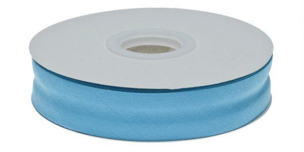 Gevouwen biaisband 20mm - Aqua blauw aquablauw