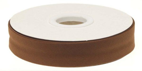 Gevouwen biaisband 20mm - Bruin bruin