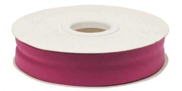 Gevouwen biaisband 20mm - Cyclaam cyclaam