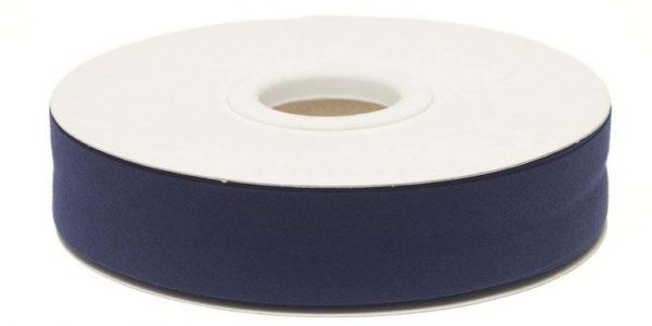 Gevouwen biaisband 20mm - Donkerblauw donker blauw
