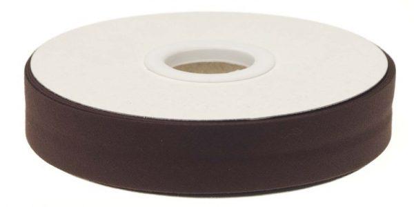 Gevouwen biaisband 20mm - Donkerbruin donkerbruin