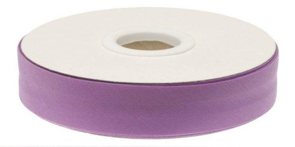 Gevouwen biaisband 20mm - Lila lila
