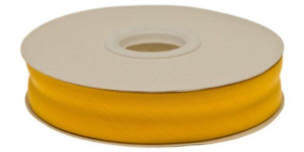 Gevouwen biaisband 20mm - Okergeel okergeel