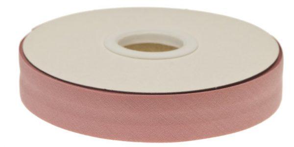 Gevouwen biaisband 20mm - Oud roze oud roze