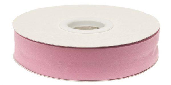 Gevouwen biaisband 20mm - Roze roze