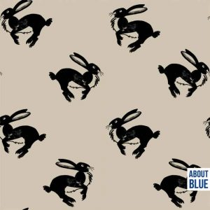 about blue run bunny french terry