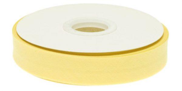 Gevouwen biaisband 20mm - Zacht geel zachtgeel
