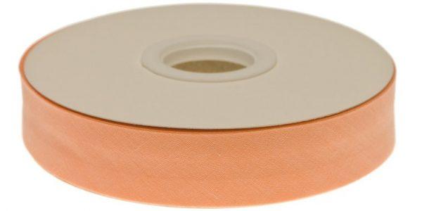 Gevouwen biaisband 20mm - Zalm zalm
