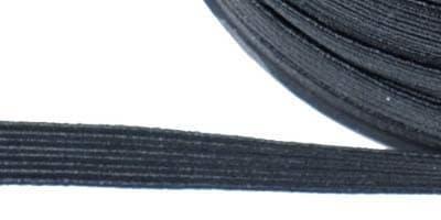 zwart elastiek 6 mm