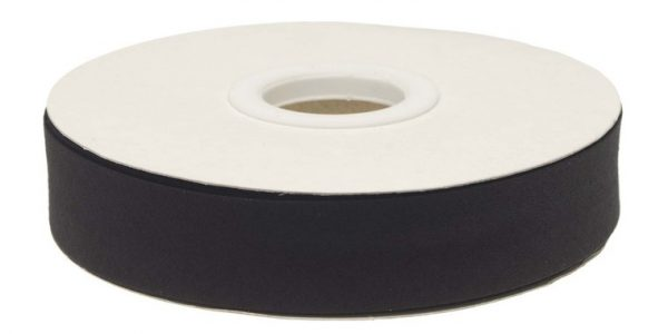 Gevouwen biaisband 20mm - Zwart zwart