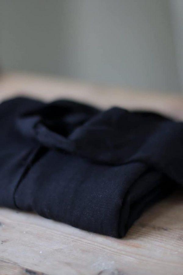 Meet Milk - SLUB LINEN BLEND - Black tencel linen slub 08 black 2