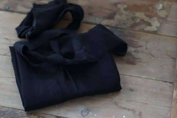 Meet Milk - SLUB LINEN BLEND - Black tencel linen slub 08 black