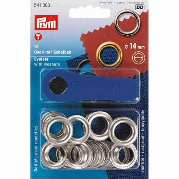 Prym - Ringen en schijven 14mm zilver 541.383 ringen schijven 14mm zilver