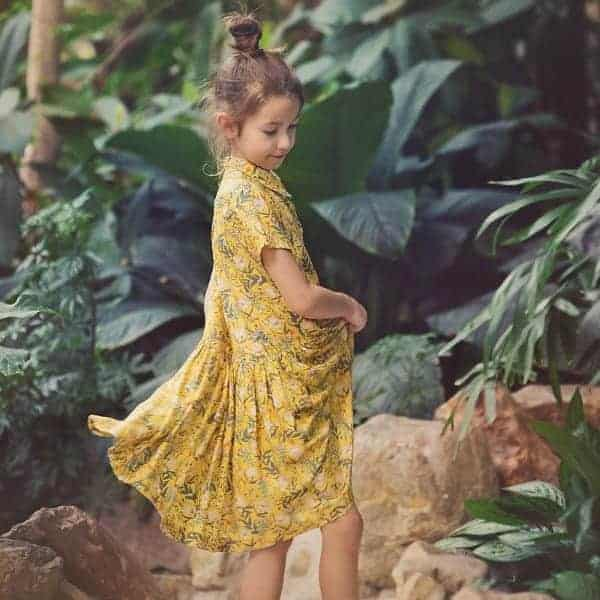 See You At Six - Summer Flowers - S - Viscose - Rayon Summer Flowers S Viscose Rayon Yolk Yellow 20b Aangepast