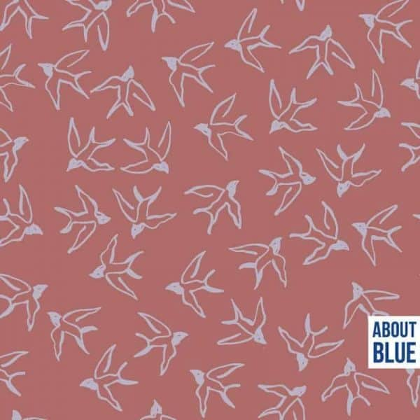 About Blue- Let me be a wild bird crepe viscose let me be a wildbird