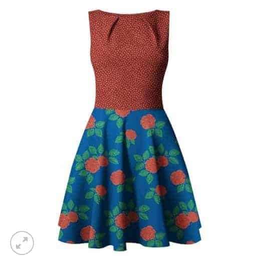COUPON 1,6M Fossan- Roses Red Jersey Roses Red – Fossan Design Wholesale 2