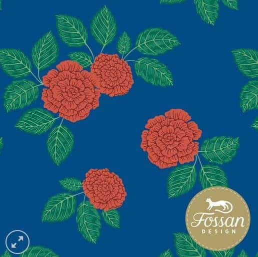 COUPON 1,6M Fossan- Roses Red Jersey Roses Red – Fossan Design Wholesale
