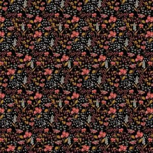 Poppy flowers black