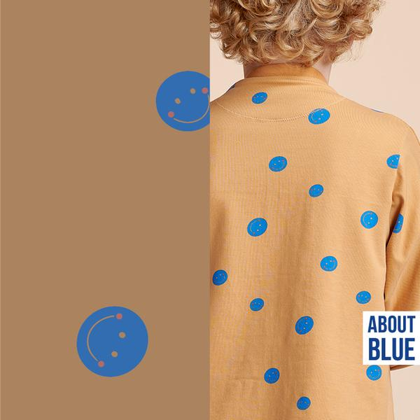 About Blue FLOWERS AND APPLAUSE (Crepe Viscose ) 800 07Cirkus STOF9 grande