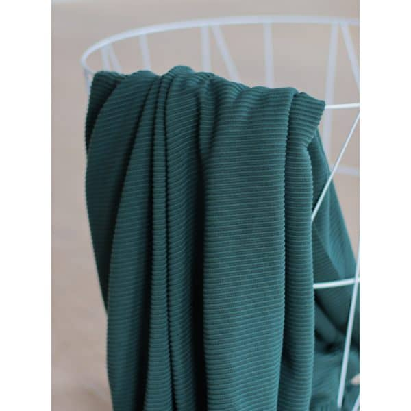 Meet Milk - Self-Stripe Ottoman knit met Ecovero vezels - Deep Green MM 9206 DEEP GREEN3