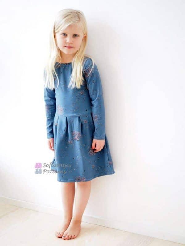 Sofilantjes - Regina Tuniek en Jurk Regina Dress Pleated Sofilantjes Patterns 1 768x1024 1