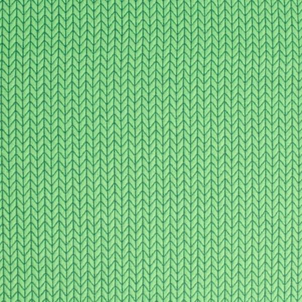 Albstoffe- Big Knit - Groen (jacquard) Albstoffe bigknit groena