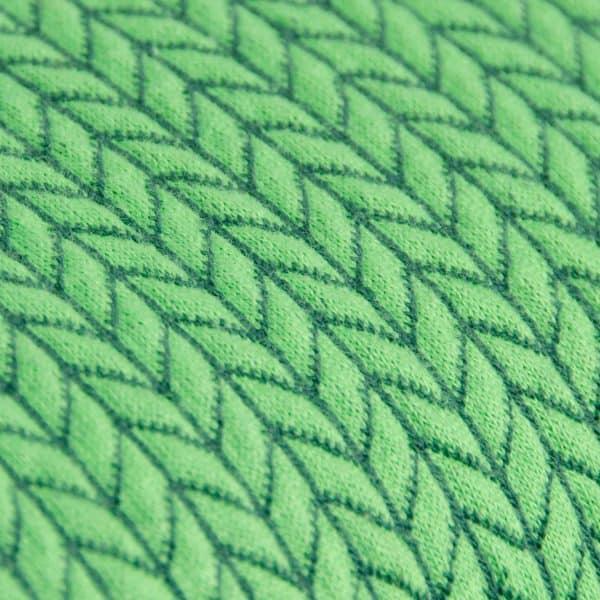 Albstoffe- Big Knit - Groen (jacquard) Albstoffe bigknit groenc