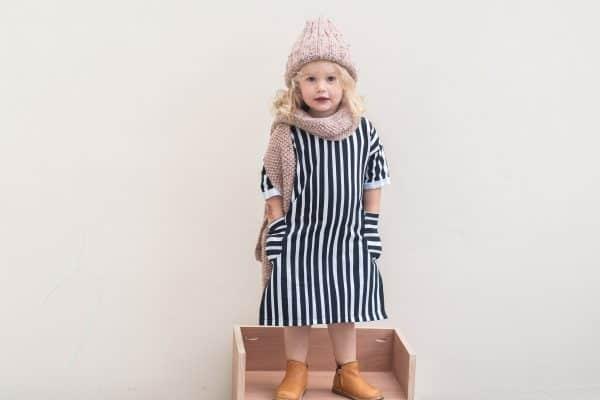 Eva Mouton - Zebra Stripes (French Terry) ada shirt turned dress BW Eva Mouton AW2021 4 van 7 scaled