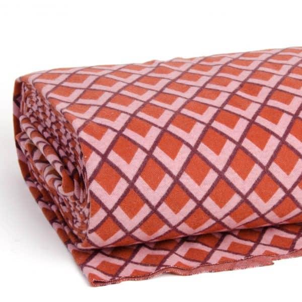 Albstoffe - Fatima Wooltouch - Terracotta albstoffe wooltouch rood