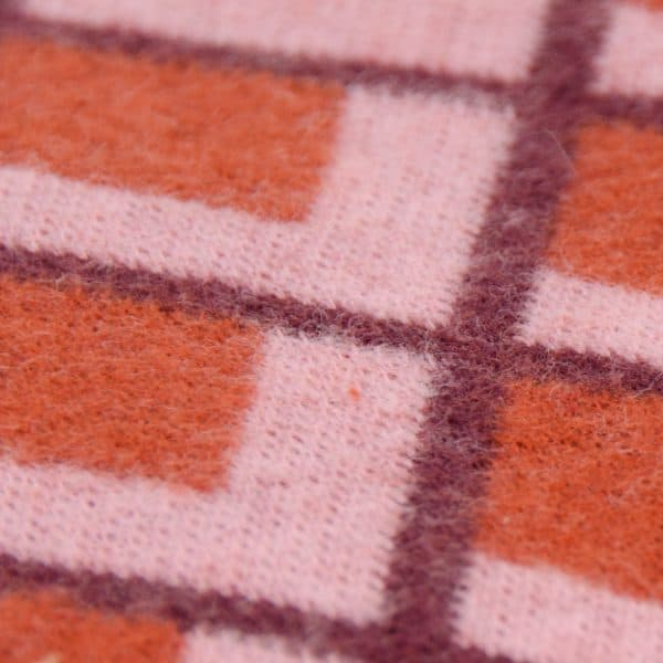 Albstoffe - Fatima Wooltouch - Terracotta albstoffe wooltouch rood detail