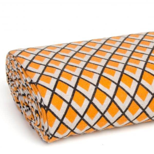 Albstoffe - Fatima Wooltouch - Oker/oranje wooltouch geel a