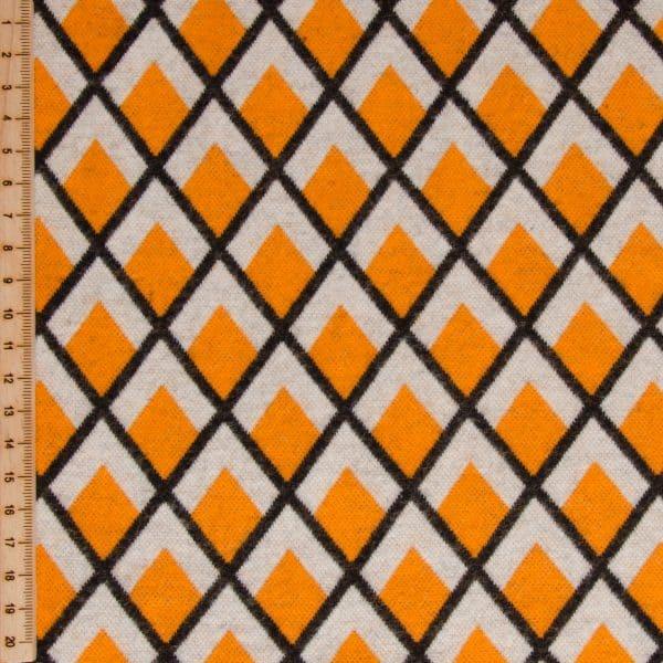 Albstoffe - Fatima Wooltouch - Oker/oranje wooltouch geelb