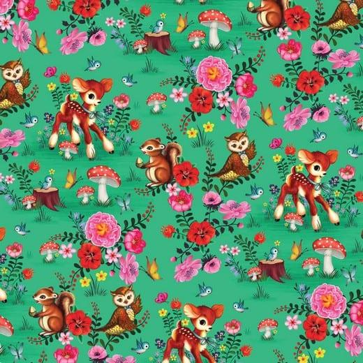 Poppy- Bambi met vriendjes - groen 08428.002
