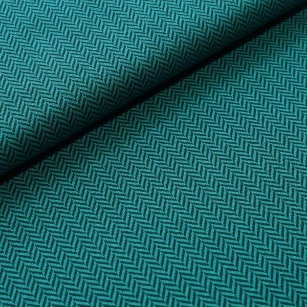 Stoffonkel - Gebreide visgraat Jacquard - Smaragd bio kuscheljacquard fischgraet smaragd