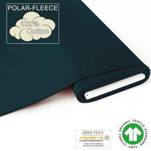 Producten in de SALE fabrilogy gots polar fleece coupon 755 dark petrol blue
