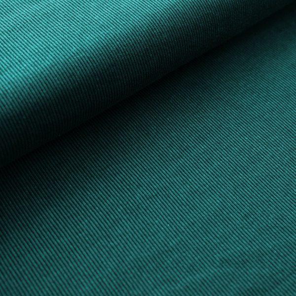 Stoffonkel - Gestreept Jacquard - Smaragd organic jacquard stripe pattern smaragd
