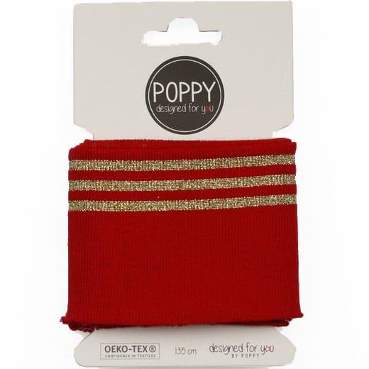 Poppy - Cuffs lurex 7cm - Red 06373.004A