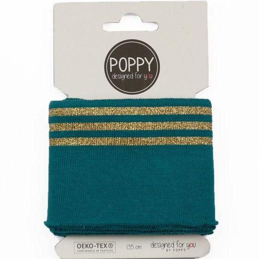 Poppy - Cuffs lurex 7cm - Teal 06373.007b