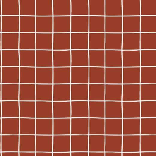 Poppy- Soft Sweat - Grid - Terracotta 08348.010