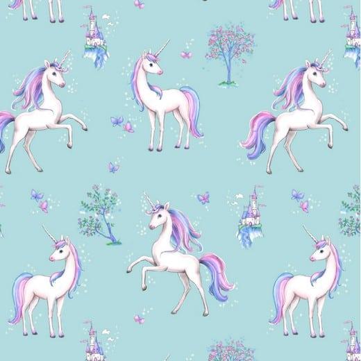 Poppy- Digital Unicorn Paradise - Light Blue 08417.002