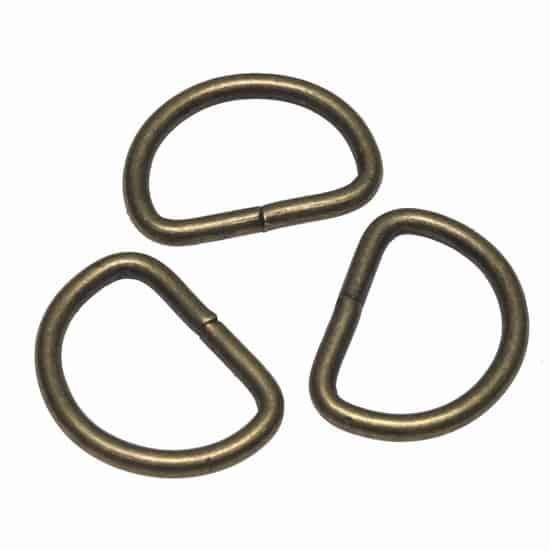 Metalen D-ring bronskleurig ZWAAR 38 mm 18761308 metalen D ring zwaar brons 38mm
